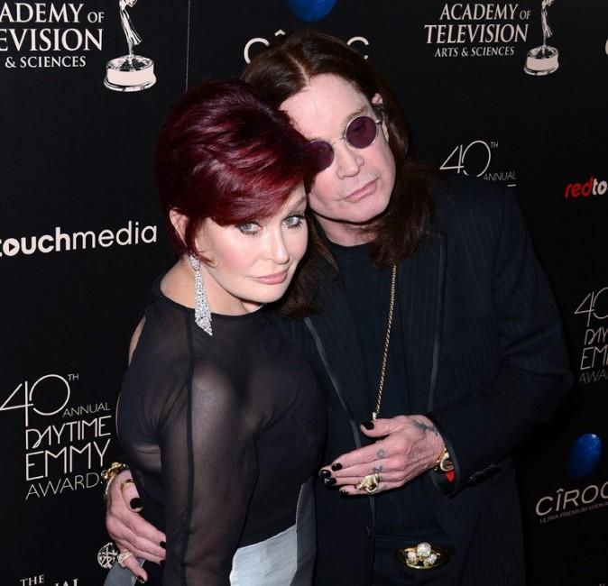 Sharon et Ozzy Osbourne sur le tapis rouge des 40èmes Daytime Emmy Awards le 16 juin 2013