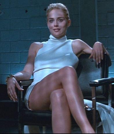 Sharon Stone dans Basic Instinct en 1992
