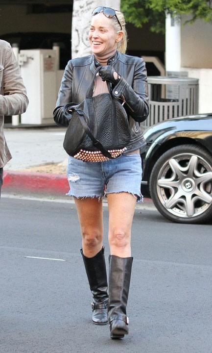 Sharon Stone avec son toyboy Martin Mica à Beverly Hills le 22 novembre 2012