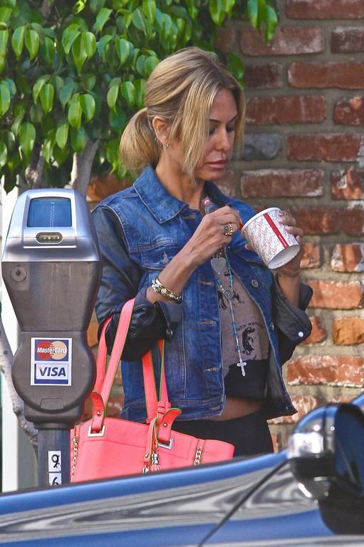 Shauna Sand de sortie avec sa fille Victoria à Los Angeles le 25 juillet 2013