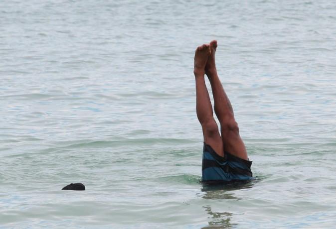 Shemar Moore sur la plage à Miami, le 2 septembre 2013.