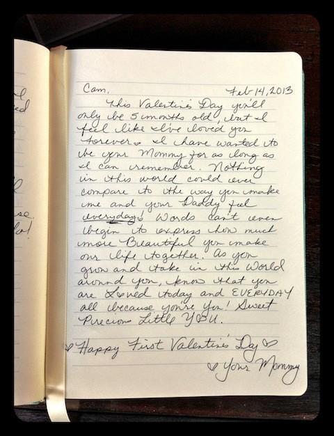 Pour la St-Valentin, Vanessa Lachey a écrit une lettre pleine d'amour pour son bébé.