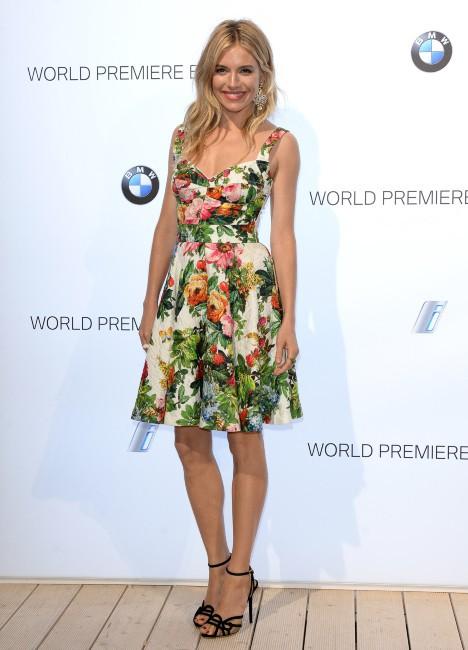 Sienna Miller lors du lancement de la nouvelle BMW à Londres, le 29 juillet 2013.