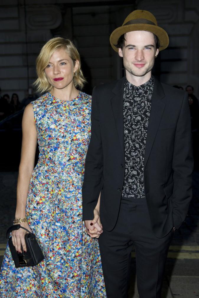Sienna Miller et Tom Sturridge à Londres le 5 octobre 2014