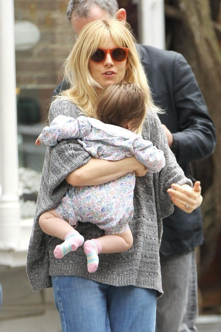 Sienna Miller à New York, le 13 avril 2013