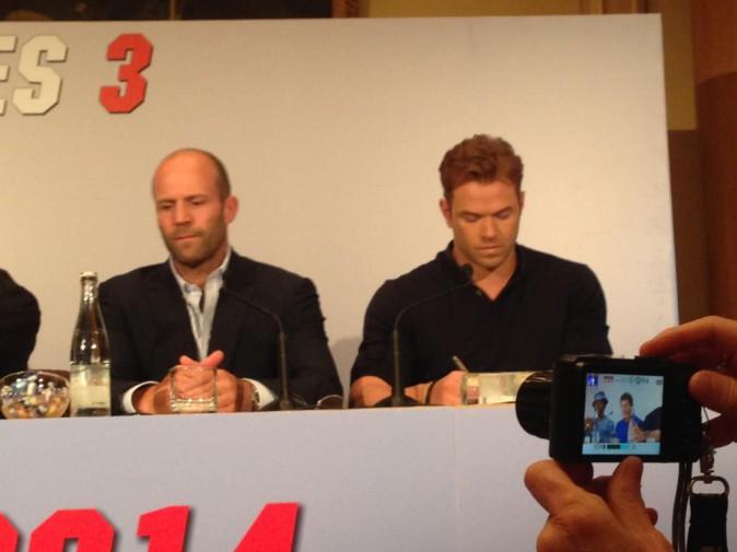 L'équipe d'Expendables 3 lors de la conférence de presse parisienne le 7 août 2014.