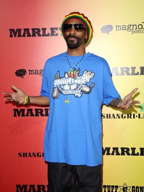 """Snoop Dogg lors de la première du film """"Marley à Los Angeles, le 17 avril 2012."""