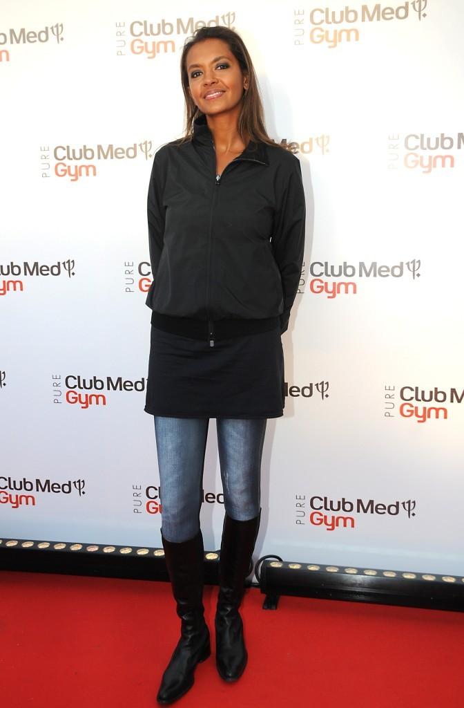Karine Lemarchand lors de l'inauguration du l'inauguration du Club Med Gym Bastille à Paris, le 7 juin 2012.