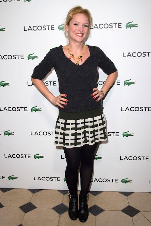 Charlie Bruneau à la soirée Lacoste à Paris, le 22 janvier 2014