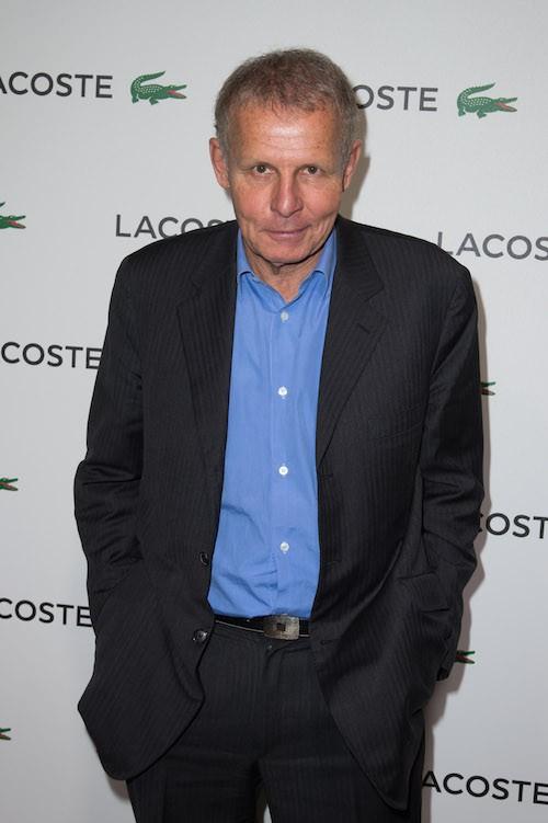 Patrick Poivre d'Arvor à la soirée Lacoste à Paris, le 22 janvier 2014