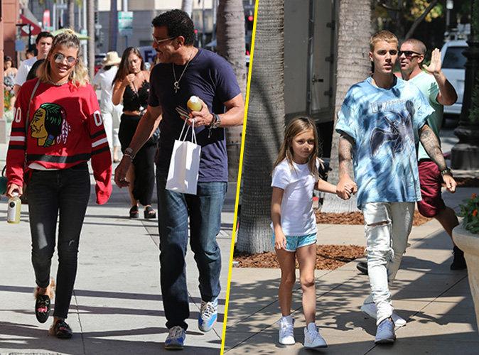 Photos : Sofia retrouve papa Lionel Richie pendant que Justin fait du baby-sitting !