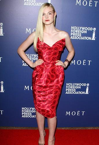Elle Fanning à Los Angeles le 14 août 2014