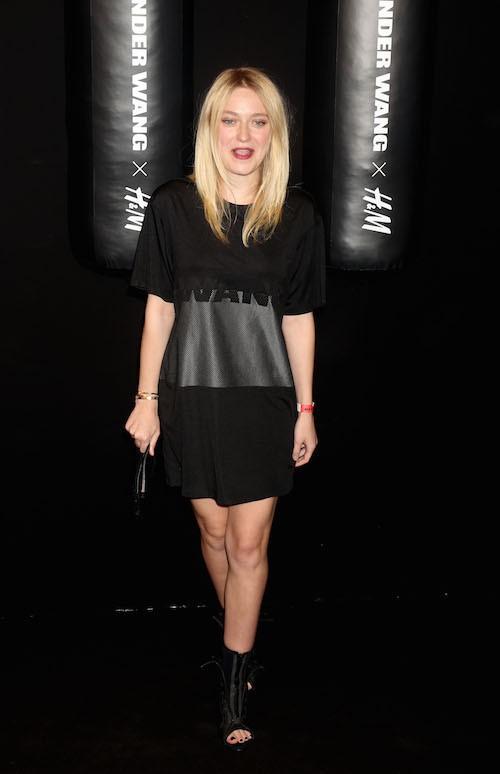 Dakota Fanning au défilé Alexander Wang x H&M le 16 octobre 2014 à New York !