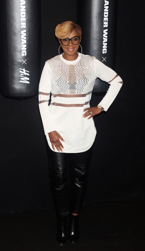 Mary J Blige au défilé Alexander Wang x H&M le 16 octobre 2014 à New York !