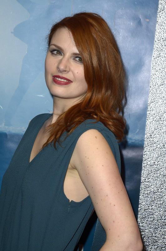 """Elodie Frégé lors de la projection du court-métrage """"La Valse de Marylore"""" à Paris, le 6 mars 2014."""