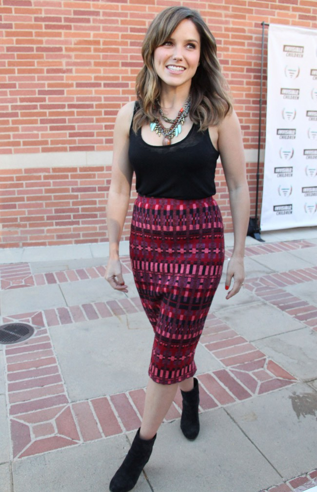 Sophia Bush à la soirée caritative organisée par l'association Invisible Children à Los Angeles le 10 août 2013