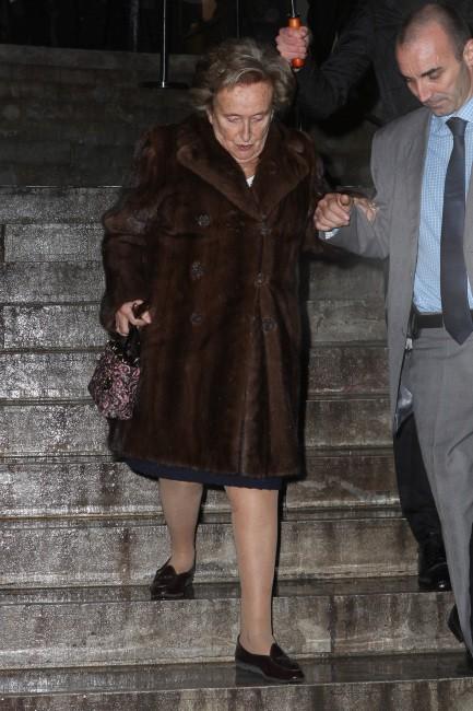 Bernadette Chirac à Paris pour la soirée Dior, le 12 novembre 2013.
