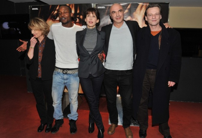 Sophie Marceau et l'équipe du film le 5 février 2013 à Paris