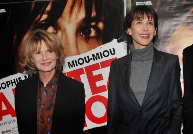Sophie Marceau et Miou-Miou le 5 février 2013 à Paris
