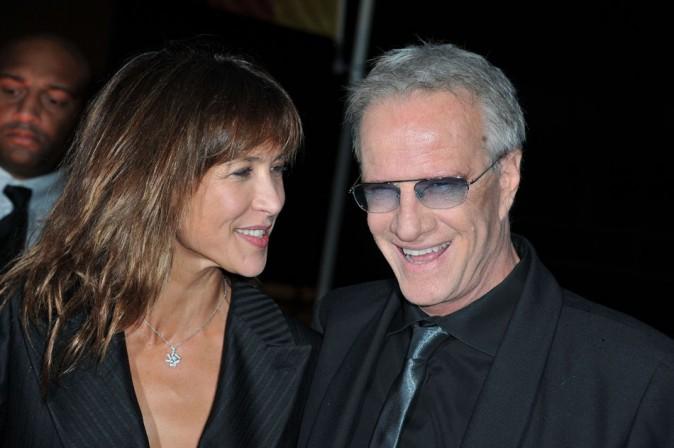 Sophie Marceau et Christophe Lambert le 21 septembre 2012 à Saint-Denis