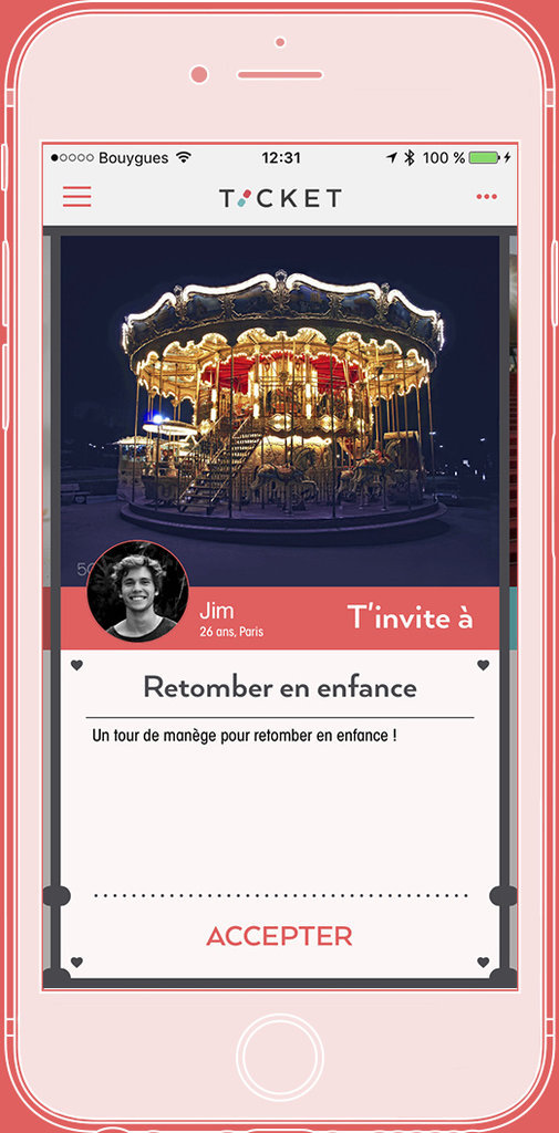 L'application Ticket
