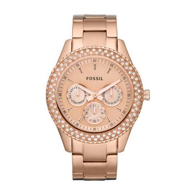 La montre Fossil rosée dorée