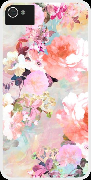 Une coque à motifs fleuris