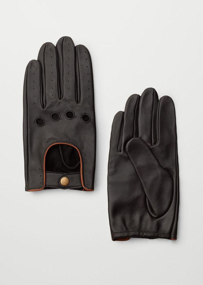 Une paire de gants en cuir - Mango Homme