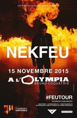 Nekfeu en concert à l'Olympia le lundi 4 janvier 2016