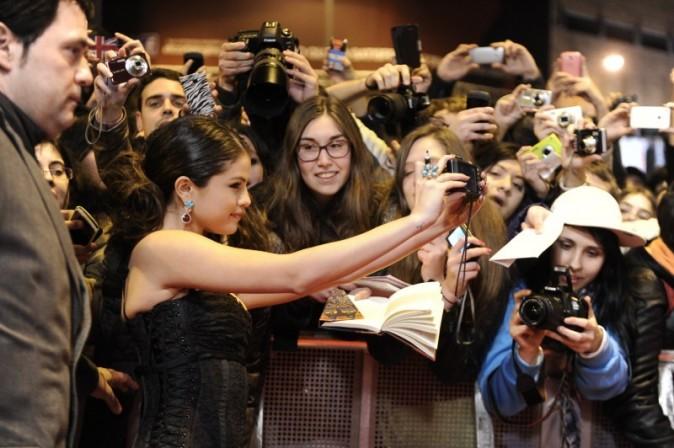 Selena Gomez lors de la première de Spring Breakers à Madrid, le 21 février 2013.
