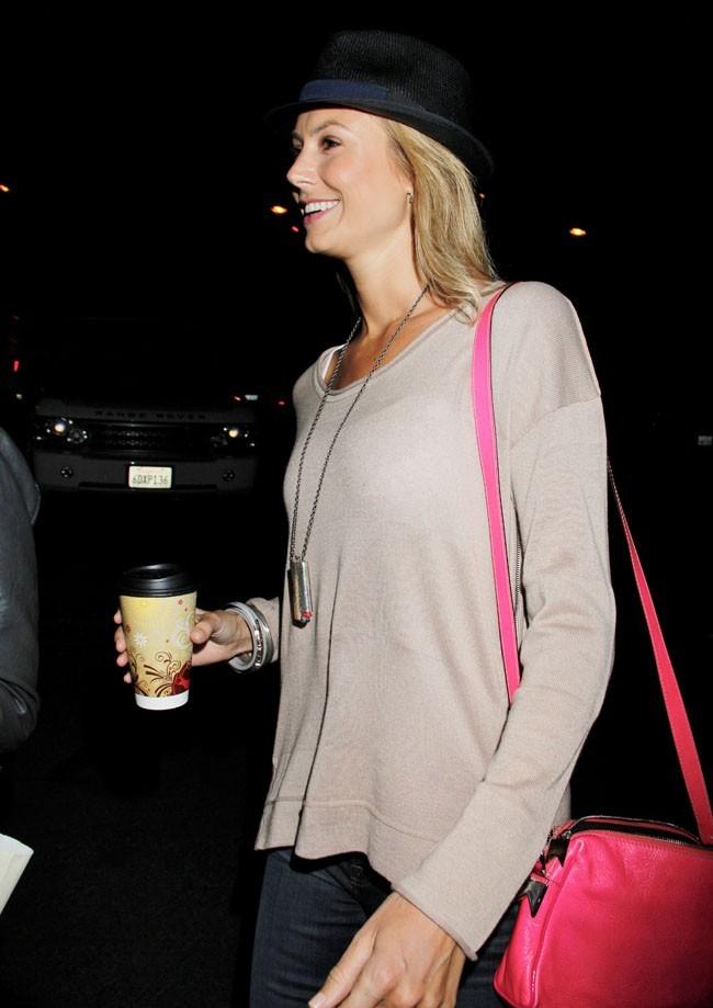 Stacy Keibler arrivant au concert de Coldplay le 2 mai 2012 à Hollywood