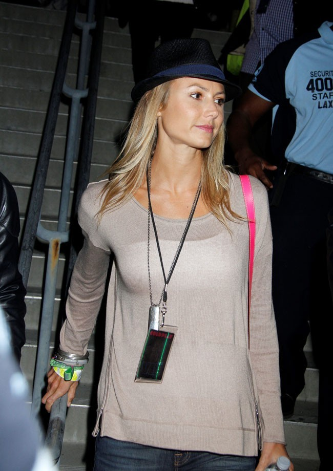 Stacy Keibler arrivant au concert de Coldplay le 2 mai 2012 à Hollywood