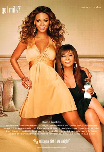 Beyoncé et Tina Knowles en 2006