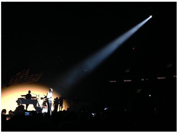 Stromae en concert au Madison Square Garden de New-York le 1er octobre 2015