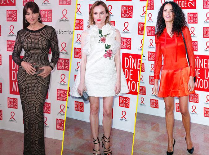 Monica Bellucci, Diane Kruger, Noemie Lenoir... Beautés resplendissantes pour le Dîner de la Mode du Sidaction !