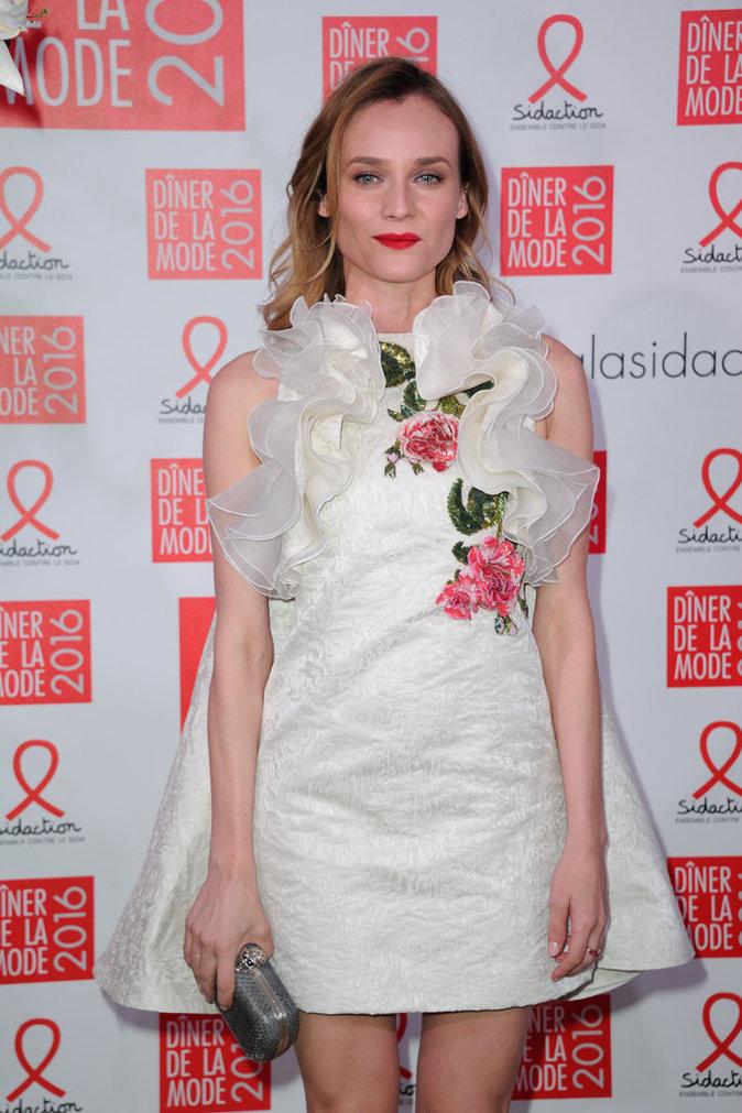 Diane Kruger porte une robe magnifique au gala annuel organisé par le Sidaction