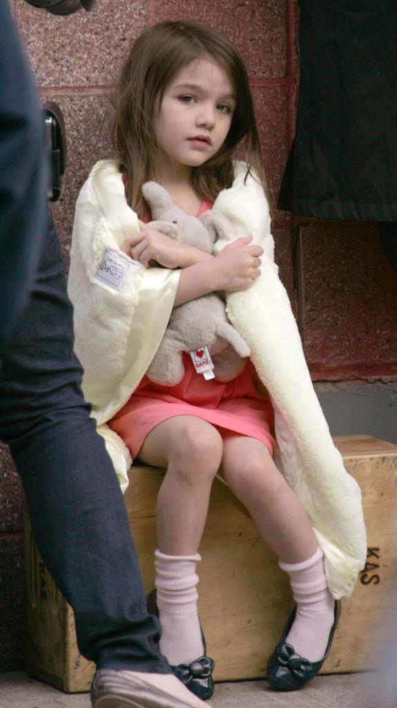 Suri Cruise en 2010 : elle est si mignonne quand elle est tranquille...