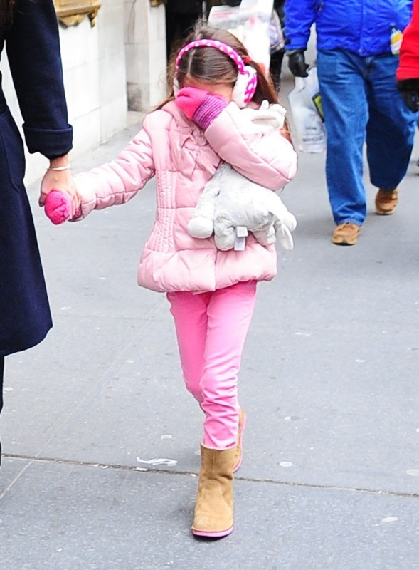 Suri Cruise à New York, le 2 janvier 2013.