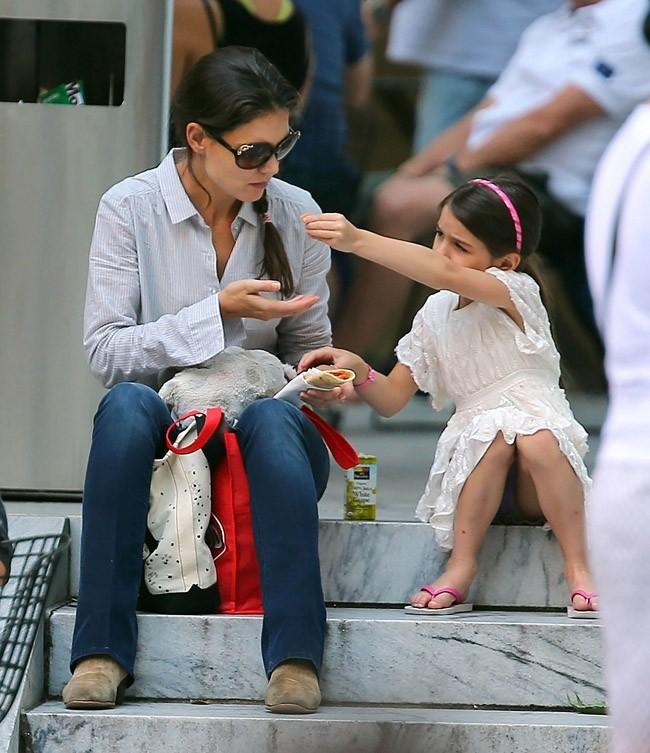 Katie Holmes et Suri Cruise le 6 août 2012 à New York