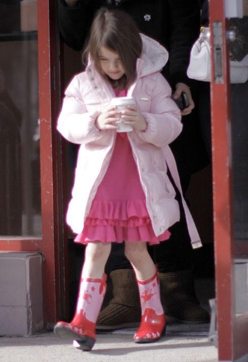 Une robe rose comme un bonbon ...