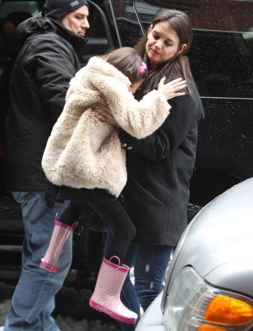 Katie Holmes et Suri Cruise le 8 mars 2013 à New York