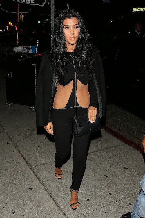 Kourtney Kardashian à Los Angeles, le 9 août 2015
