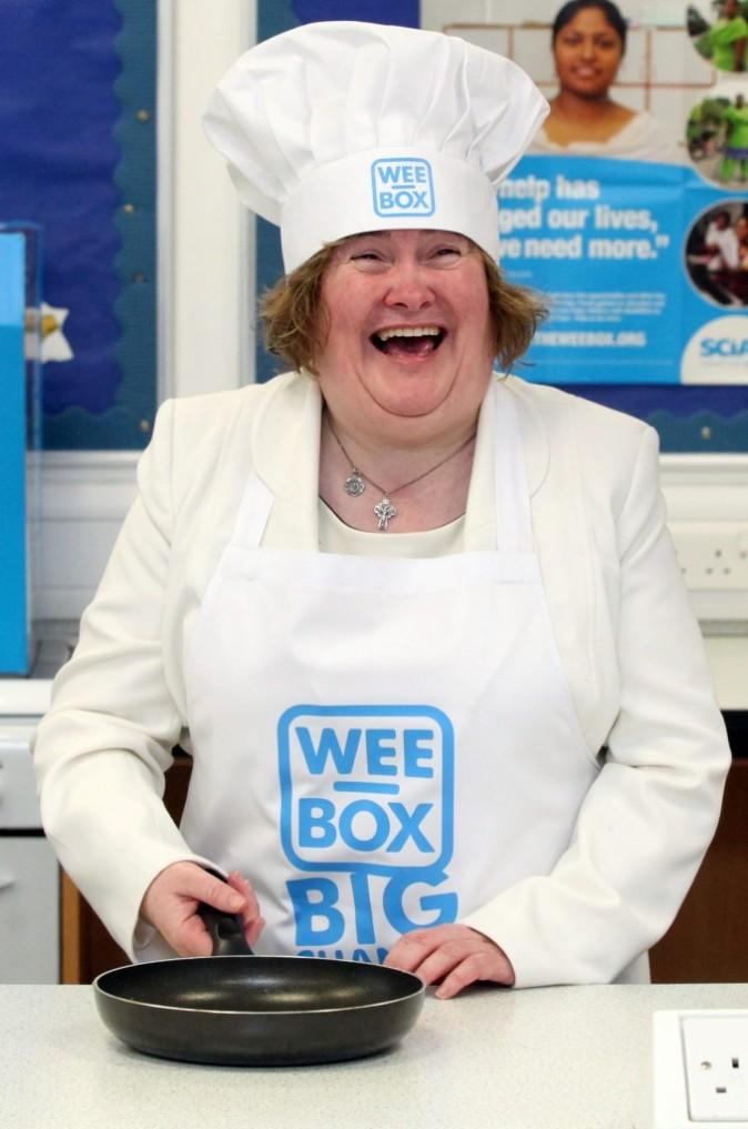 Susan, toujours heureuse de cuisiner !