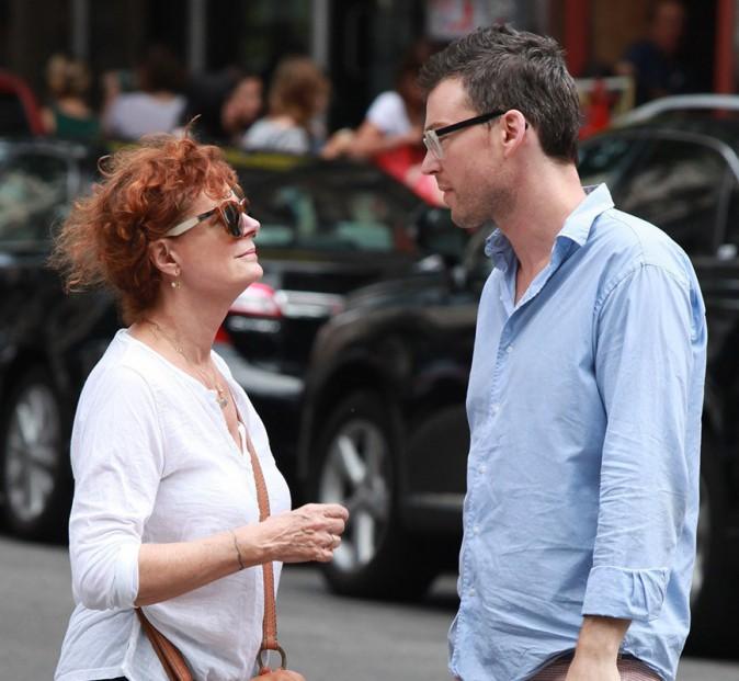 Photos : Susan Sarandon de sortie avec son toyboy, après avoir taclé Woody Allen