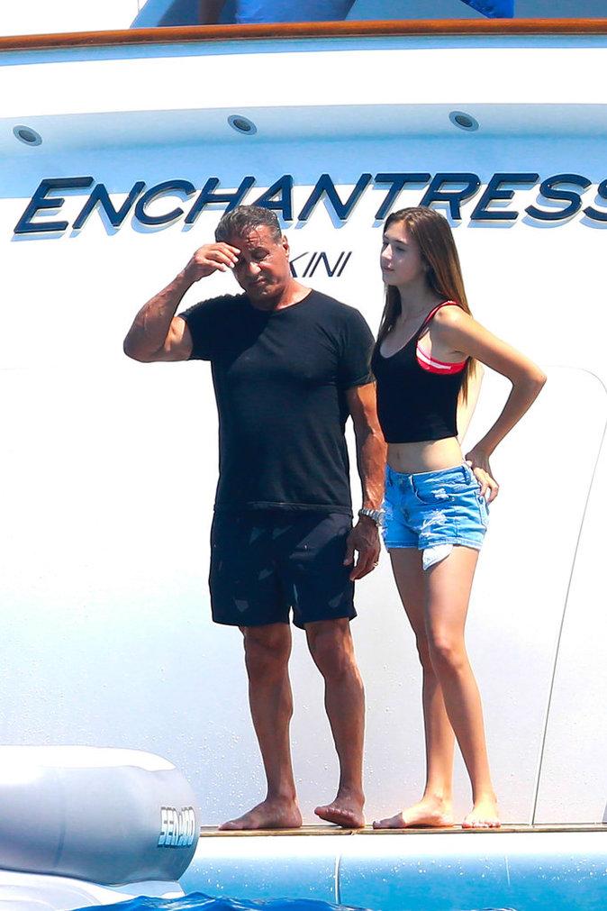 Sylvester Stallone et l'une de ses filles