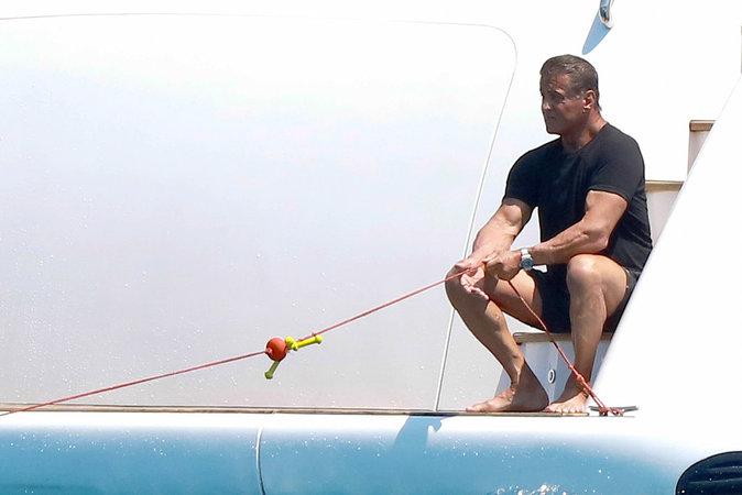 Sylvester Stallone, un homme face à la mer !