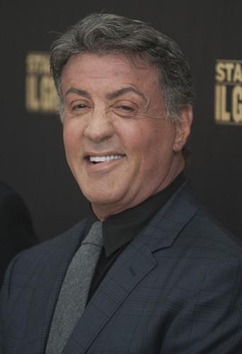 Sylvester Stallone à Rome le 7 janvier 2014