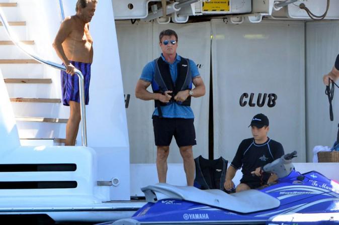 Sylvester Stallone à Saint-Tropez le 10 août 2013