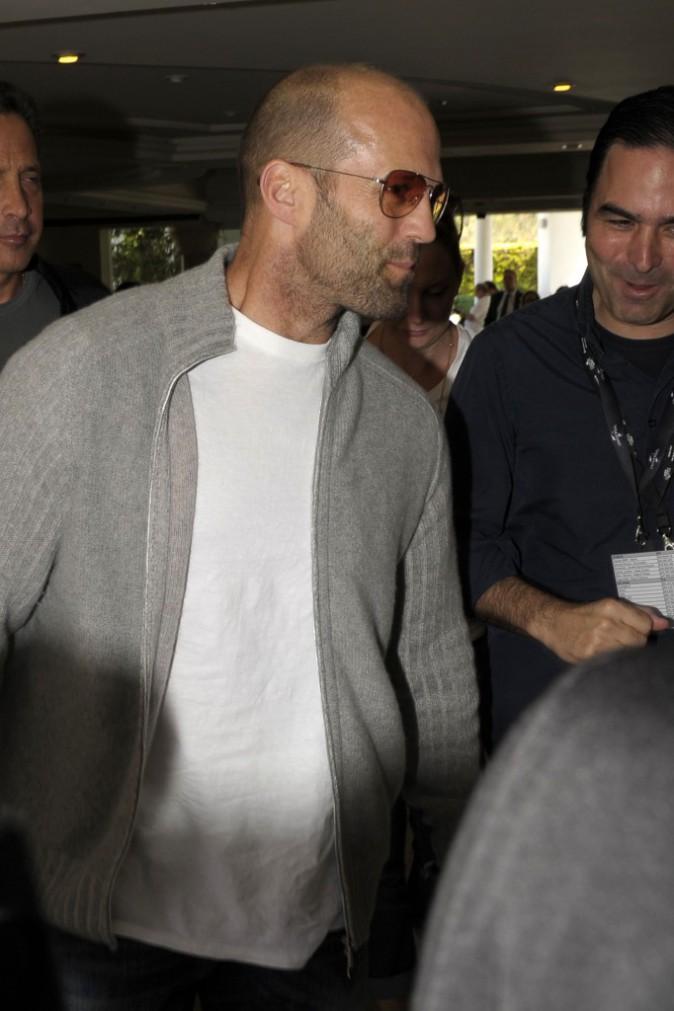 """Jason Statham arrive à Marbella pour la promo d'""""Expandables 3"""", le 5 août"""