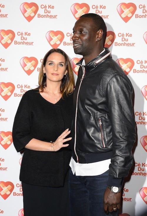 Omar Sy et sa femme Hélène à l'avant-première de Samba le 14 octobre 2014!